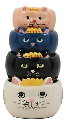 Adorable Queen Cats Nesting Measuring Cup Set of 4 Creative Functional Kitchen D