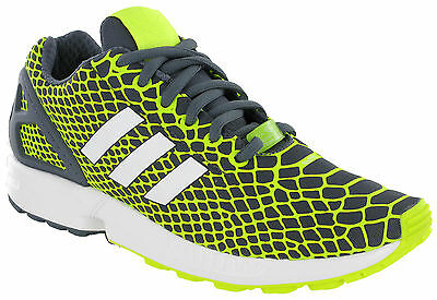 Adidas ZX Flux Techfit Trainers Running Sports Mesh Grey Mens Heel Cage B34934