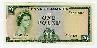 Government of Jamaica 1 Pound 1961 P-51 VF-XF TDLR