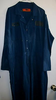 Coverall Size 48R XL Color Navy Blue Zippered Front Various Makers $8 Each