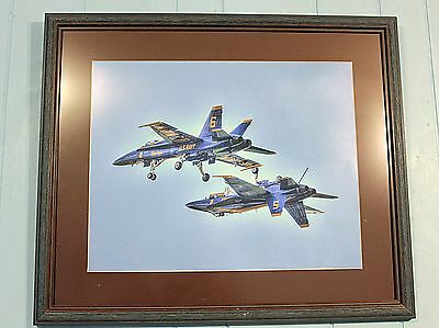 Blue Angels Framed Photo  16 X20 Print In Matted Frame