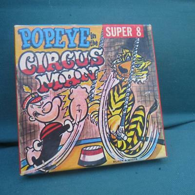 Vintage POPEYE THE CIRCUS MAN - Super 8 Film