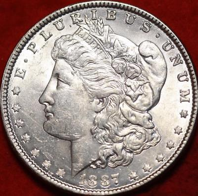 Uncirculated 1887 Philadelphia Mint Silver Morgan Dollar Free S/H