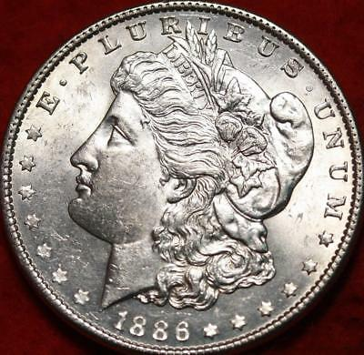 Uncirculated 1886 Philadelphia Mint Silver Morgan Dollar Free S/H