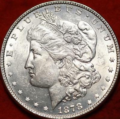 Uncirculated 1878 7/8 TF Philadelphia Mint Silver Morgan Dollar Free S/H