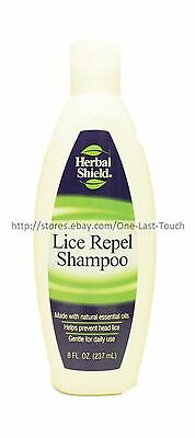 HERBAL SHIELD* Helps Prevent Head LICE REPEL SHAMPOO Natural Essential Oils 8 oz