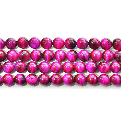"""Natural 5A Rose Red Tiger's Eye Stone Gemstone Round Beads 15"""" 6mm 8mm 10mm 12mm"""