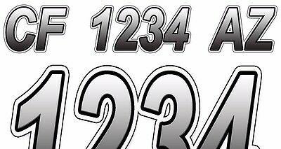 Custom Boat Registration Numbers Decals Vinyl Lettering Stickers USCG