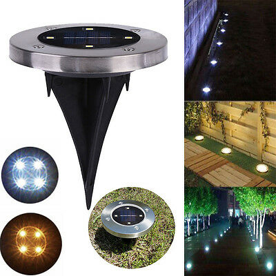 5 LED Outdoor Path Light Waterproof Solar Spot Lamp Yard Garden Lawn Landscape U