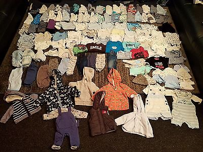 tiny baby/first size/newborn baby boys clothes bundle 125 items