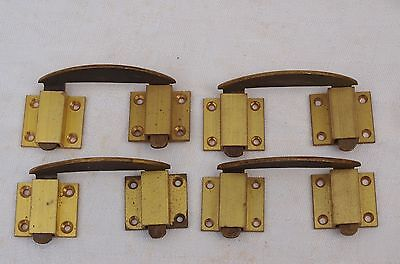 4 Reclaimed Brass Table Leaf Fork Catch Clips Lock With Keeps