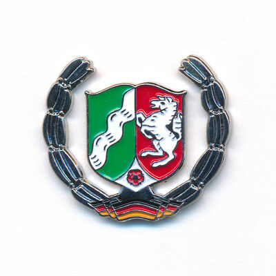 NRW Wappen Deutschland Symbol Flagge Metall Button Badge Pin Anstecker 0792