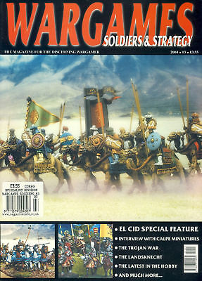 WARGAMES Soldiers & Strategy El Cid, Calpe Miniatures, Trojan War magazine re...
