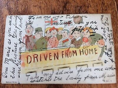 Driven From Home Comic 1903 Postcard