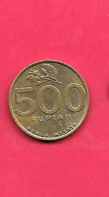 Indonesia Km59 2003 Vf-Very Fine-Nice Older 500 Rupiah Bird Coin