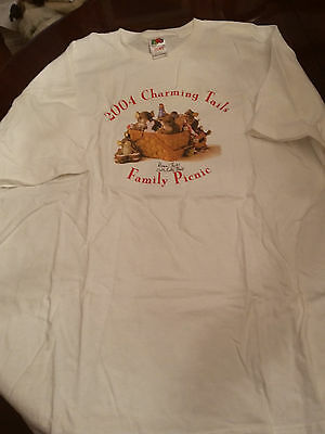 Harmony Kingdom Event Tee Shirt Hand Signed Dean Griff Salt Lake Charming Tails