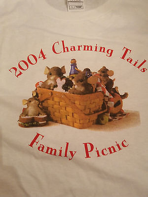 Harmony Kingdom Event Tee Shirt Charming Tails 2004 Family Picnic Unsigned Tee L