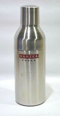 DANZKA Vodka forme bouteille Shaker inox cocktail  NEUF