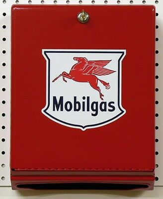 New Red Mobilgas  Paper Towel Dispenser With 1000 Multi Fold Towels - Free Ship*
