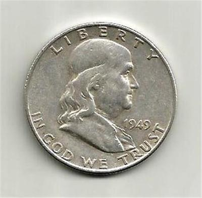 1949-D Silver Franklin Half Dollar. Lower Mintage In A Collectible Condition.