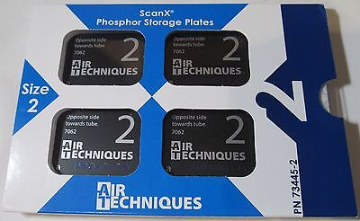New 4-Pack Air Techniques Scan-X Scanx 73445-2 #2 Phosphor Storage Plates 2022