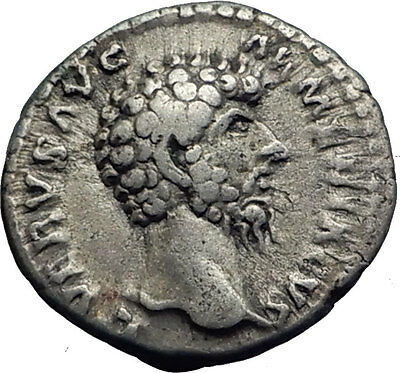 LUCIUS VERUS 163AD Rome Authentic Ancient Silver Roman Coin MARS War God i63329