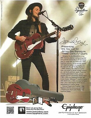 James Bay Signature 1966 Epiphone Century Guitar Outfit ad 8 x 11 advertisement