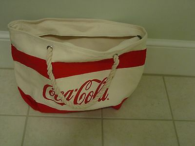 Coke Canvas Tote bag RARE Coca Cola red white 2015 Convention