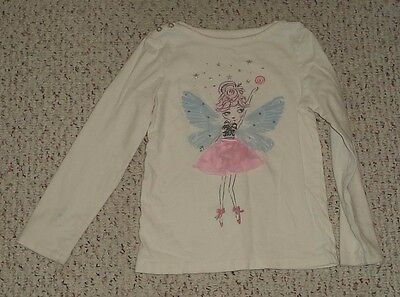Ivory Gymboree L/S Top w/ Fairy on the Front, Cozy Fairytale, Size 7, GUC