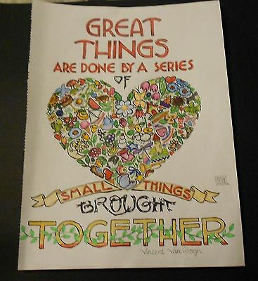 Mary Engelbreit Print- Great Things Are Done By A Series Of Sma... -Hand Colored