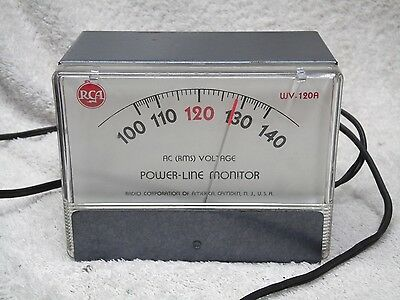 Vintage RCA WV 120A Electric POWER LINE Voltage MONITOR