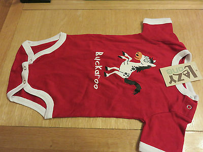 "Lazy One ""Creeper Buckaroo"" Sleepsuit - 18M - NEW with Tags - RRP $19.99"