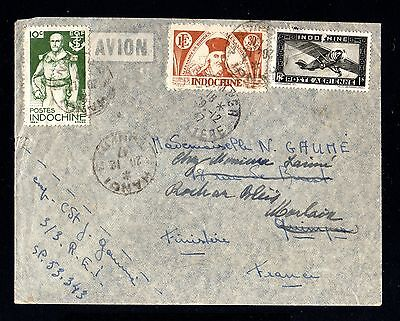 16760-INDOCHINA-Airmail COVER HUE to LIBOURNE (france) 1948.WWII.INDOCHINE.
