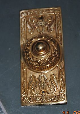 NON Lighted Doorbell push Button Solid Brass door bell Polished Brass Victorian