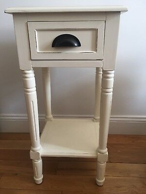 Nightstand/Side Table NEW, White, Vintage