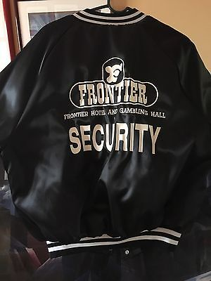 Vintage Frontier Hotel And Gambling Hall Security Jacket Sz Large