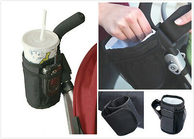Universal Fit Stroller Cup Holder with Phone Pockets Organizers for Strollers