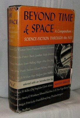 August Derleth BEYOND TIME & SPACE First edition Scarce 1950 SF Anthology in dj