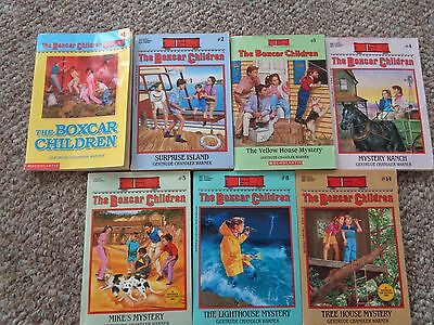 """The """" BOXCAR CHILDREN"""" Lot of  7 Books"""