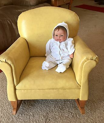 Vintage Child's Overstuffed Rocking Chair- Rare 1950's