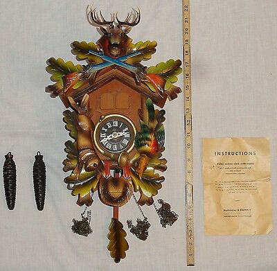 Vintage 1-Day Bachmaier & Klemmer Cuckoo Clock Western Germany Regula Movement