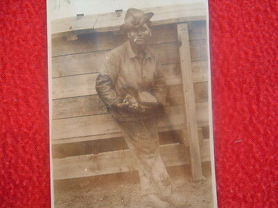 (2) EARLY 1900's Gold Miners detailed Photographs,Picks,tools,Rocks they found!