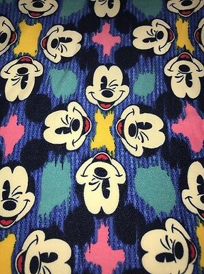 LuLaRoe Disney NWT OS leggings One New Mickey Mouse Blue Teal Pink Winking