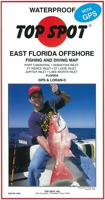Top Spot Map N220 East Florida Port Canaveral Lake Worth Inlet