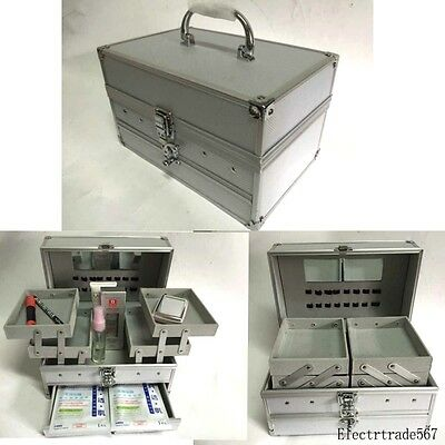 Professional Edition Aluminum Make up Train Case Jewelry Box Cosmetic Case