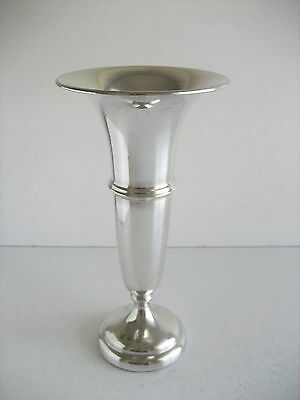 Solid Silver 8 Inches Tall Posy Vase Chester 1918 Barker Bros
