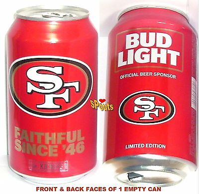 SAN FRANCISCO 49ers 2017 NFL KICKOFF BUD LITE BEER CAN SPORT CALIFORNIA FOOTBALL