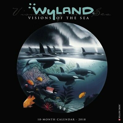 2018 Wyland Visions of the Sea Wall Calendar,  Sea Life by Willow Creek Press