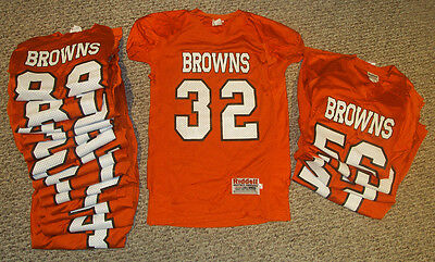 NEW Lot of 20 Riddell Youth Football League Jerseys BROWNS Team Set Ages 8-11