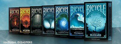 Natural Disaster Series Bicycle Playing Cards 7 Deck Set - Custom Limited New